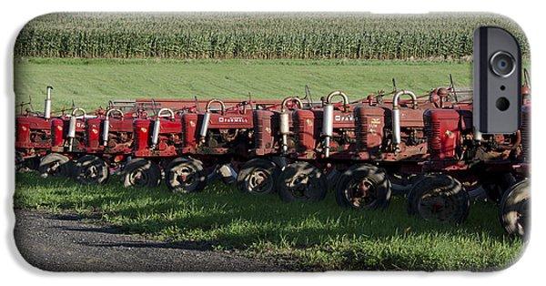 Connecticut Farm iPhone Cases - Tractors in Rural Connecticut iPhone Case by Brendan Reals