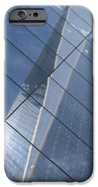 River View iPhone Cases - Trade Center Reflections iPhone Case by Steven Lapkin