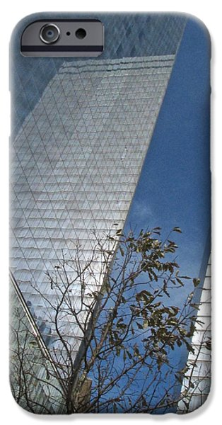River View iPhone Cases - Trade Center Reflects iPhone Case by Steven Lapkin