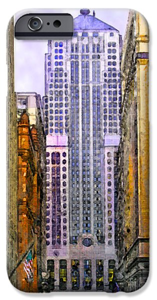 Sears Tower Mixed Media iPhone Cases - Trading Places iPhone Case by John Robert Beck