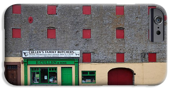 Enterprise Photographs iPhone Cases - Traditional Butchers , Leighlinbridge iPhone Case by Panoramic Images