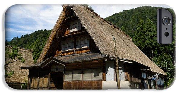 East Village iPhone Cases - Traditional gassho-zukuri style house in Suganuma Village - Gokayama - Japan iPhone Case by Chieko Shimado