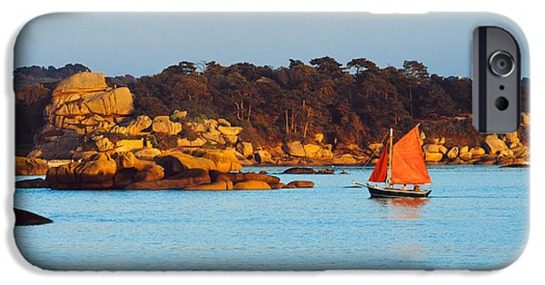 Sailboat Ocean iPhone Cases - Traditional Sailing Boat In An Ocean iPhone Case by Panoramic Images