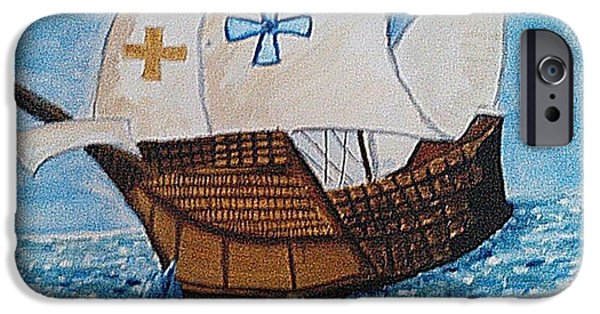 Pirate Ship iPhone Cases - Traditional Ship iPhone Case by Ramisha Chowdhury