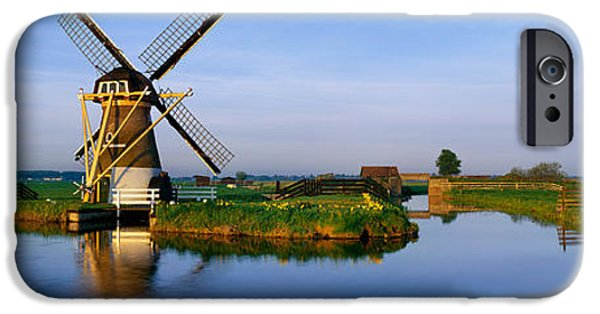 Power iPhone Cases - Traditional Windmill On The Waterfront iPhone Case by Panoramic Images