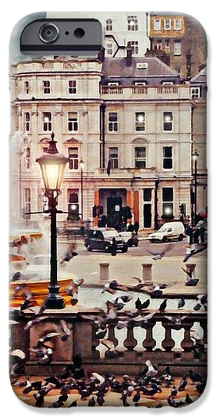 Trafalgar Square London iPhone Case by Diana Angstadt