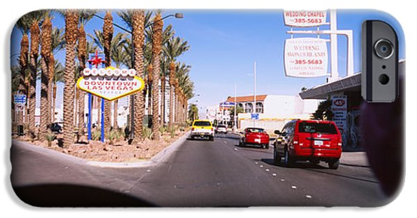 Board iPhone Cases - Traffic Entering Downtown, Las Vegas iPhone Case by Panoramic Images