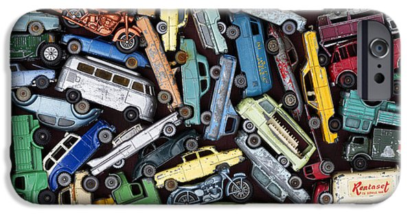60s Photographs iPhone Cases - Traffic Jam iPhone Case by Tim Gainey