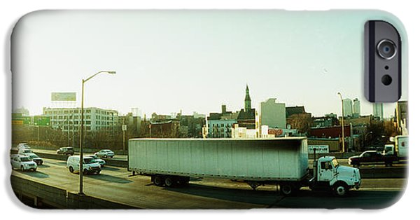 Connection iPhone Cases - Traffic On An Overpass, Brooklyn-queens iPhone Case by Panoramic Images