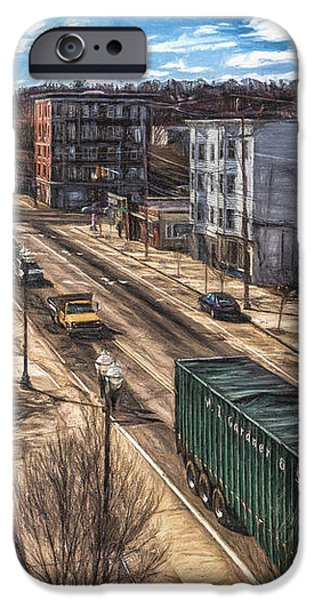 Maine iPhone Cases - Traffic on Lincoln Street iPhone Case by Bob Orsillo