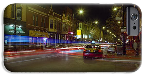 Lincoln iPhone Cases - Traffic On The Road, Lincoln Park iPhone Case by Panoramic Images
