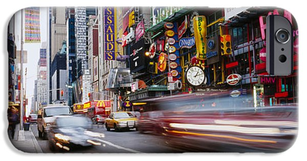 42nd Street iPhone Cases - Traffic On The Street, 42nd Street iPhone Case by Panoramic Images