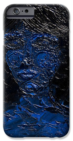 Archetype Paintings iPhone Cases - Claimed by Darkness iPhone Case by Sora Neva
