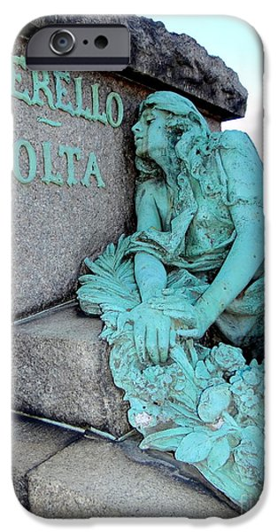 Cemetary iPhone Cases - Tragic Beauty iPhone Case by Ed Weidman