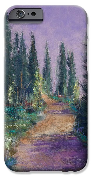 National Pastels iPhone Cases - Trail in the Woods iPhone Case by David Patterson