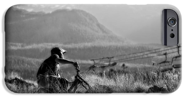 Fat Tire iPhone Cases - Trail Rider iPhone Case by Michael Seemann