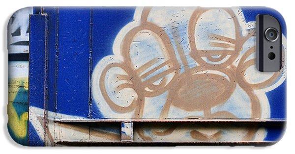 Spray Paint iPhone Cases - Train Art Cartoon Dog iPhone Case by Carol Leigh