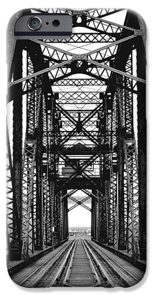 Shape Pyrography iPhone Cases - Train Bridge iPhone Case by Jennifer Russell