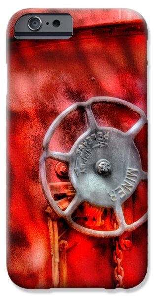 Train - Car - The Wheel iPhone Case by Mike Savad