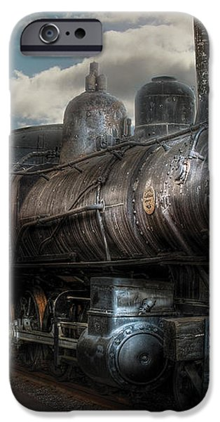 Train - Engine - 6 NW Class G Steam Locomotive 4-6-0  iPhone Case by Mike Savad