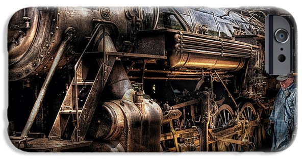 Steampunk iPhone Cases - Train - Engine -  Now boarding iPhone Case by Mike Savad