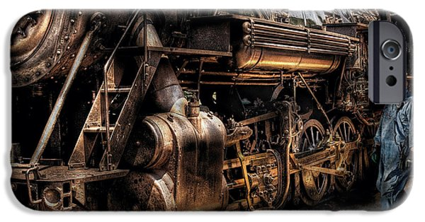 Mechanics Photographs iPhone Cases - Train - Engine -  Now boarding iPhone Case by Mike Savad