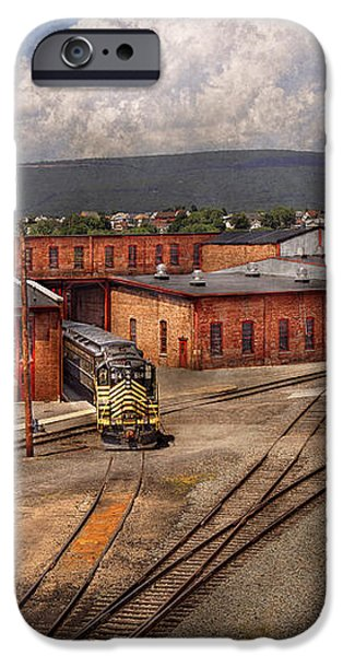 Train - Entering the train yard iPhone Case by Mike Savad