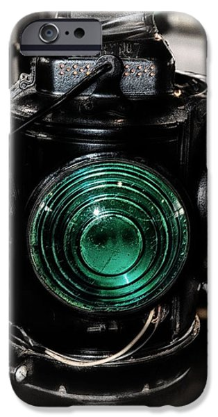 Electrical Equipment iPhone Cases - Train Lantern  iPhone Case by Todd and candice Dailey