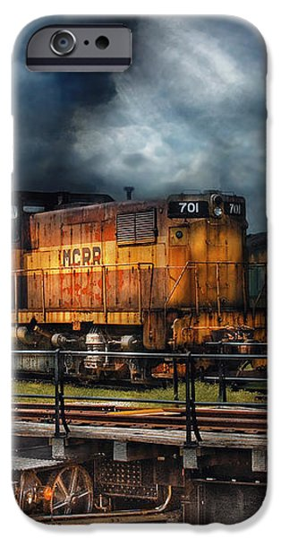 Train - Let's go for a spin iPhone Case by Mike Savad