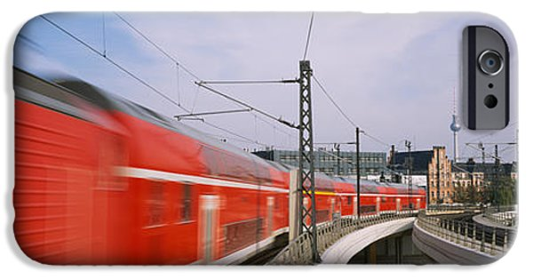 High Speed Photography iPhone Cases - Train On Railroad Tracks, Central iPhone Case by Panoramic Images
