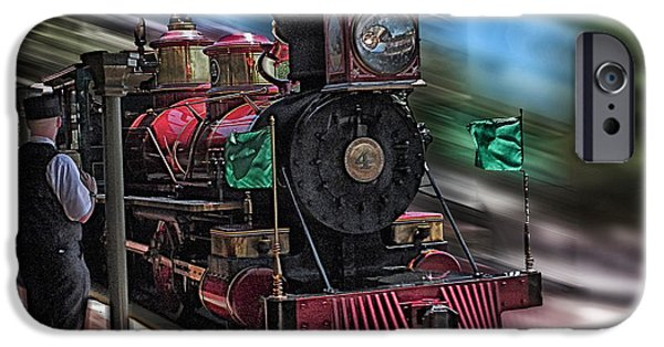 Boat iPhone Cases - Train Ride Magic Kingdom iPhone Case by Thomas Woolworth