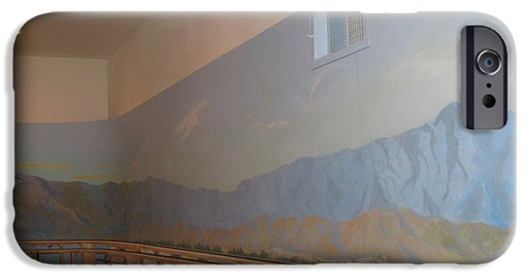 Desert Scape iPhone Cases - Train Room Before   iPhone Case by Maria Hunt