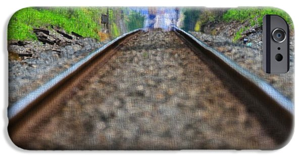 Great Mysteries iPhone Cases - Train Track Canvas iPhone Case by Dan Sproul