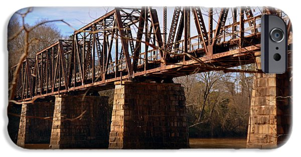 Rust iPhone Cases - Train Trestle iPhone Case by Lisa Wooten