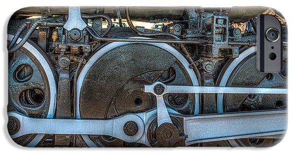 American Revolution iPhone Cases - Train Wheels iPhone Case by Paul Freidlund