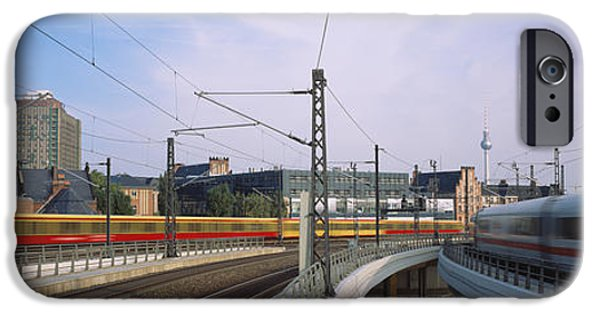 High Speed Photography iPhone Cases - Trains On Railroad Tracks, Central iPhone Case by Panoramic Images