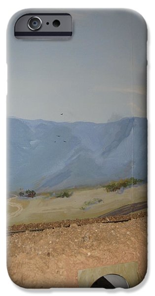 Desert Scape iPhone Cases - Trains  Planes and Automobiles iPhone Case by Maria Hunt