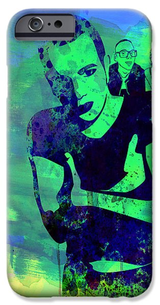 Film Mixed Media iPhone Cases - Trainspotting Watercolor 2 iPhone Case by Naxart Studio