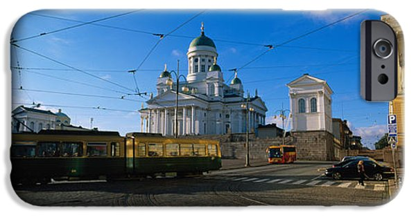 Senate iPhone Cases - Tram Moving On A Road, Senate Square iPhone Case by Panoramic Images