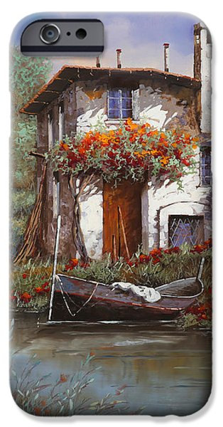 tramonto con bougainvillea iPhone Case by Guido Borelli
