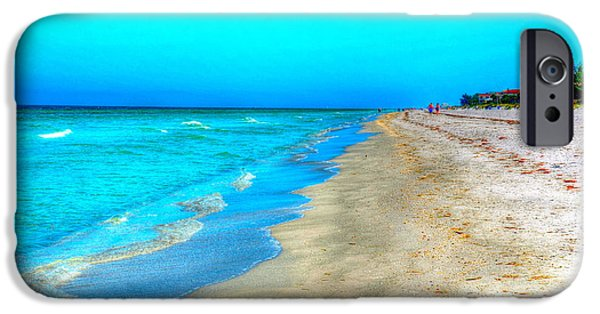 Beach Landscape iPhone Cases - Tranquil Beach iPhone Case by Debbi Granruth