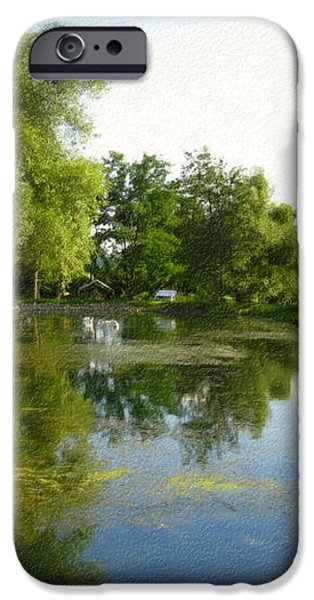 Tranquil - Digital Painting Effect iPhone Case by Rhonda Barrett