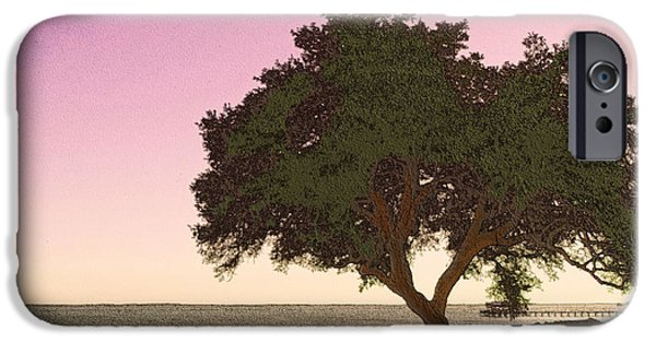 Interior Scene iPhone Cases - Tranquil Florida Bay iPhone Case by Glenn McCarthy Art and Photography