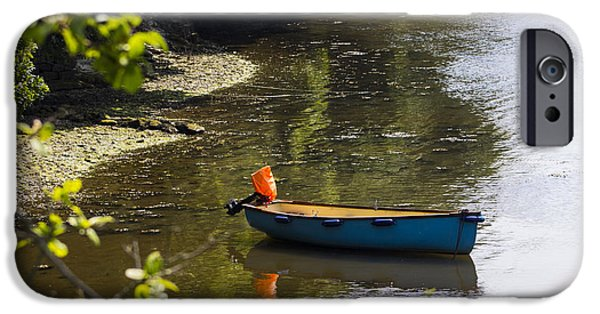 Tidal Creek iPhone Cases - Tranquil Mooring iPhone Case by Brian Roscorla