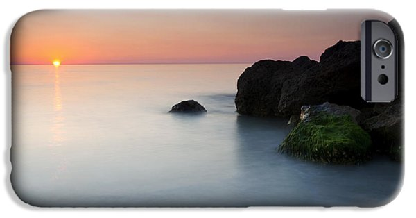 Beach iPhone Cases - Tranquil Sunset iPhone Case by Mike  Dawson