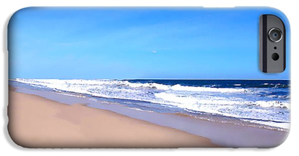 Ocean Drawings iPhone Cases - Tranquility     iPhone Case by Iconic Images Art Gallery David Pucciarelli