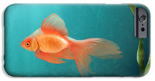 Aquarium Fish iPhone Cases - Tranquility iPhone Case by April Moen