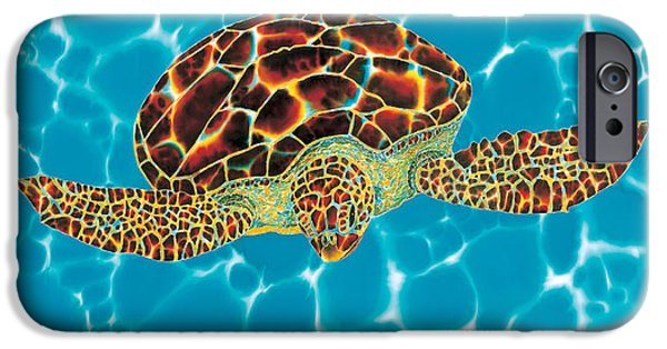 Home Tapestries - Textiles iPhone Cases - Caribbean Sea Turtle iPhone Case by Daniel Jean-Baptiste