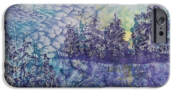 Morning iPhone Cases - Tranquility iPhone Case by Ellen Levinson