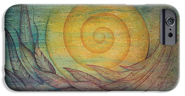Sphere Paintings iPhone Cases - Tranquility iPhone Case by Ellen Starr
